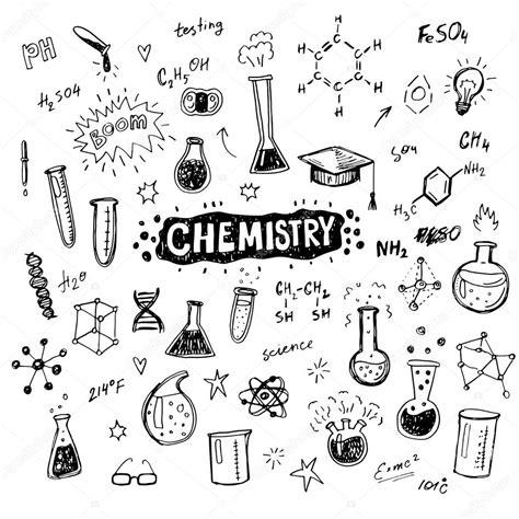 imagenes quimica blanco y negro conjunto de 237 cones de qu 237 mica m 227 o desenhada vetor de