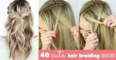 cute ideas to to your hair with a wand the best cute hair braiding tutorials