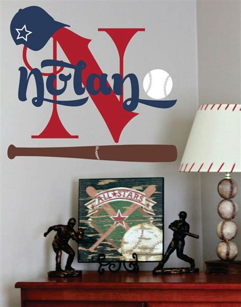 sports wall decals for nursery baseball name decal sports wall decal for boy baby