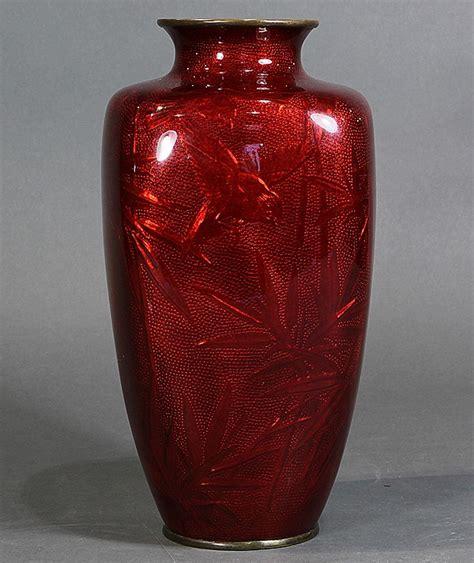Japanese Vase Value by Japanese Cloisonne Ginbari Vase