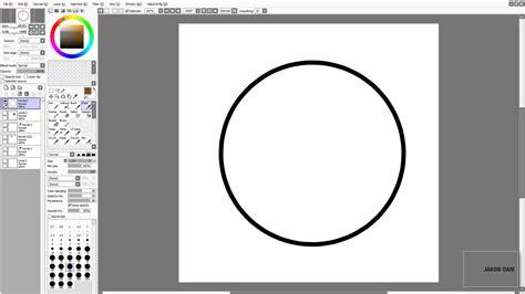 paint tool sai simple circle sai beginner tutorial pen tool vector circles and hair