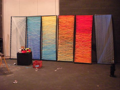 how to design a backdrop for the stage patterns in the yarn church stage design ideas