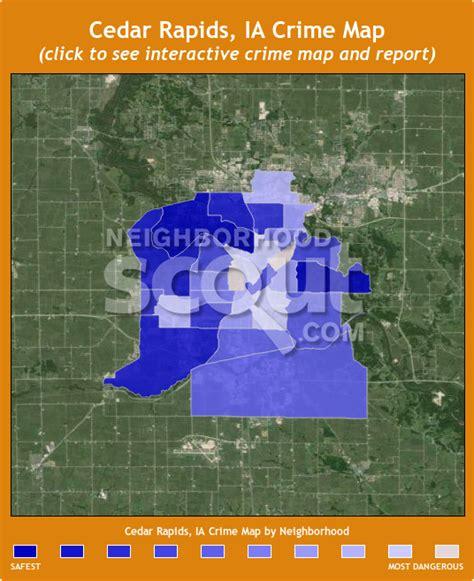 map of cedar rapids iowa cedar rapids crime rates and statistics neighborhoodscout