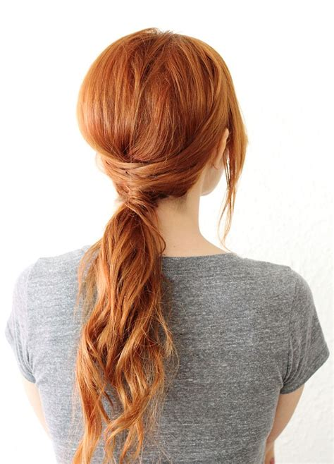 easy homemade hairstyles for medium hair crisscross ponytail a beautiful mess