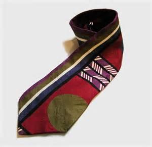 Bugatti Ties 80s Bugatti Tie Bold Silk Graphic Italian Necktie By