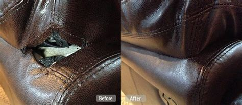 ripped leather couch repair photo torn seam repair for furniture fibrenew gold coast