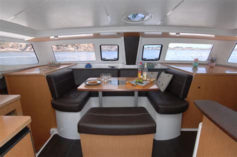 inside a catamaran fountaine pajot