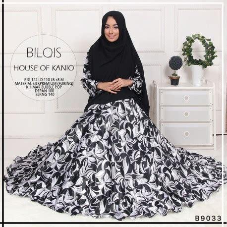 Khimar Zivana bilqis black baju muslim gamis modern