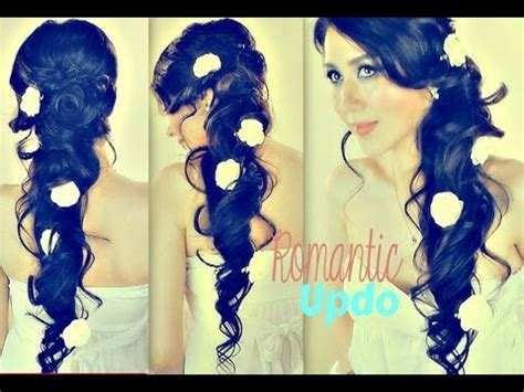 romantic curly cascading hairstyles updos for medium romantic curly cascading hairstyles updos for medium