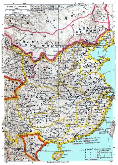 global history review the ming china history maps 1368 1644 ming