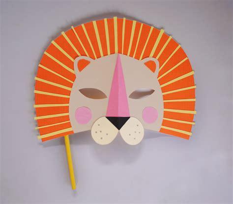 diy paper lion mask for national geo kids mer mag