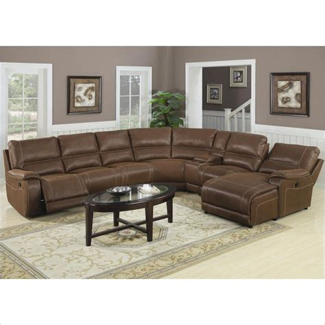 Sectional Reclining Sofa With Chaise Coaster Loukas Reclining Sectional Sofa W Chaise In Brown 600312 Ac Kit