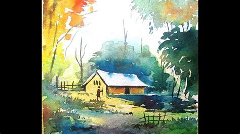 water color paints simple watercolor landscape painting watercolor painting