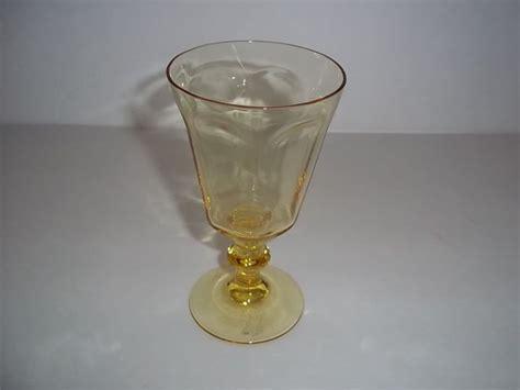 lenox barware lenox antique yellow crystal wine glass new ebay