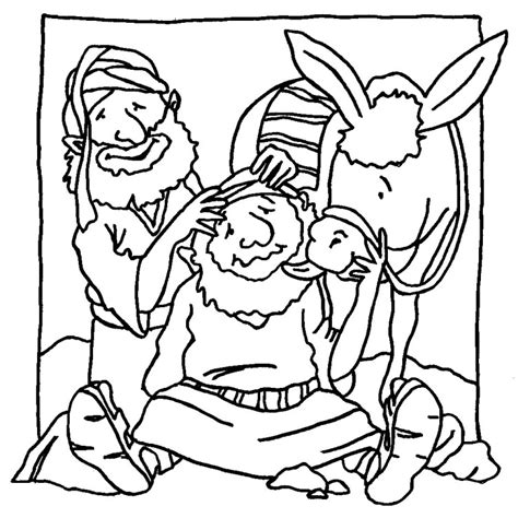 coloring page for good samaritan parable of the good samaritan the good samaritan