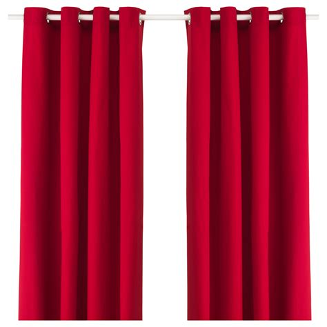 red curtains ikea merete curtains 1 pair red 145x250 cm ikea