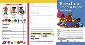 preschool progress report template preschool progress report 1 year olds images frompo