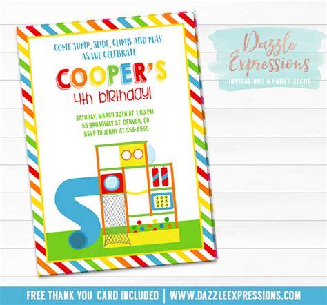 free printable invitations upload photo printable indoor playground birthday invitation kids