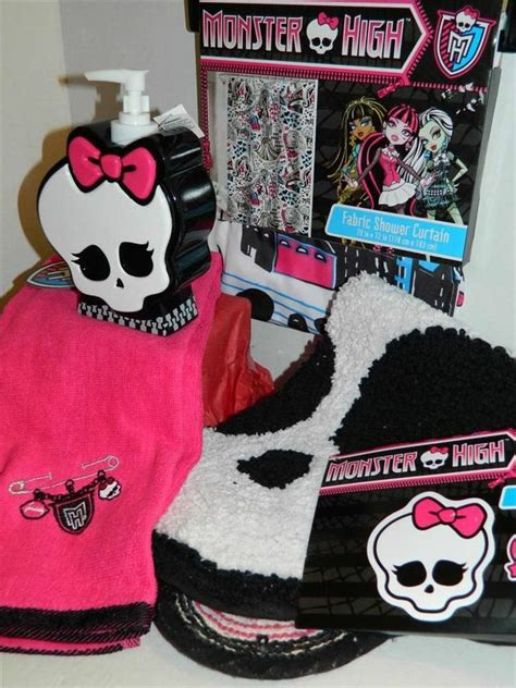 monster bathroom set monster high bathroom set towel shower curtain soap dispenser bath ma