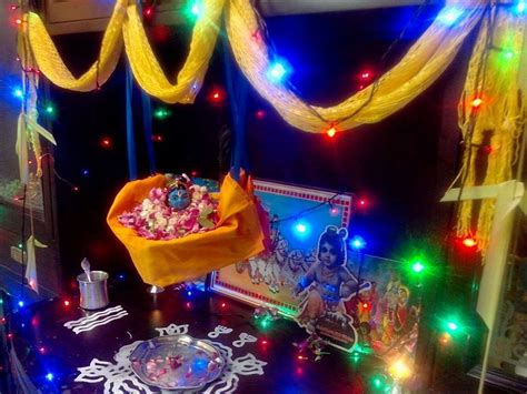 Decoration For Navratri At Home Janmashtami Decoration Ideas Janmashtami Janmashtami