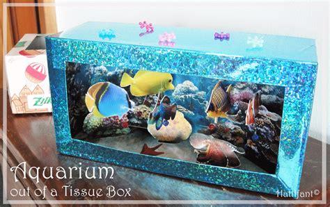 How To Make A Paper Aquarium - tissue box aquarium
