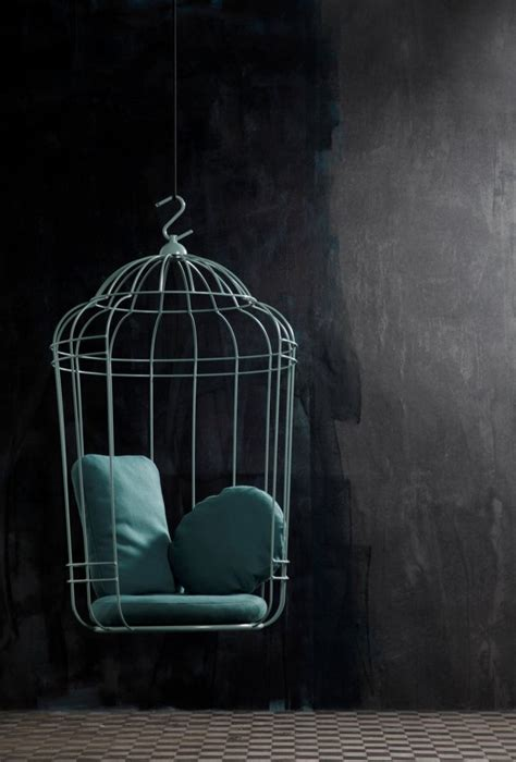 Hanging Bird Cages From Ceiling by Hanging Chair In Large Birdcage Shape Cageling Home