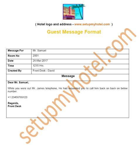format message html bell desk guest message format