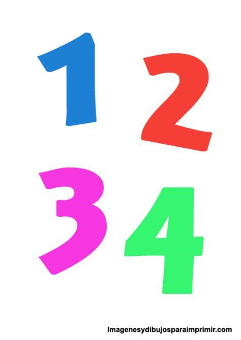 imagenes infantiles numeros numeros de colores