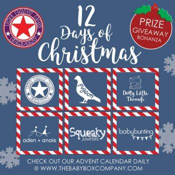 Baby Giveaways 2016 - 12 days of christmas prize giveaway 2016 the baby box company