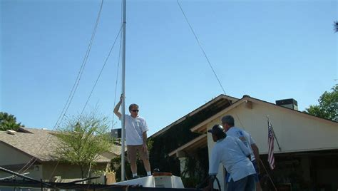 sailboat pole pr boat how to build a sailboat gin pole