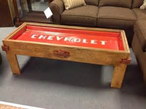 chevy home decor chevrolet tailgate coffee table rustic chevy tailgate