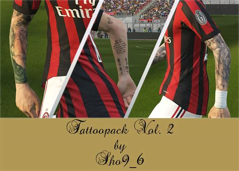 tattoo pack pes 2017 terbaru pes 2018 tattoo pack v2 dari sho9 6 patch pes terbaru