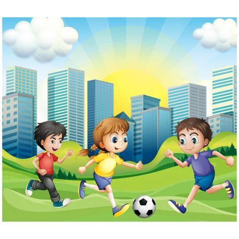imagenes de niños jugando futbol en caricatura ni 241 os jugando al f 250 tbol descargar vectores premium