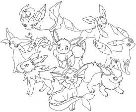 Pokemon Eevee Evolutions  Free Coloring Pages On Art sketch template