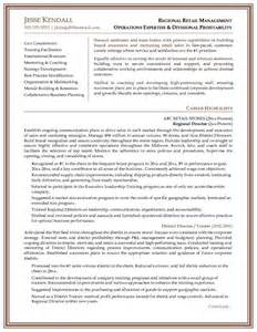 example regional director resume free sample