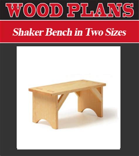 shaker bench plans outdoor furniture plans