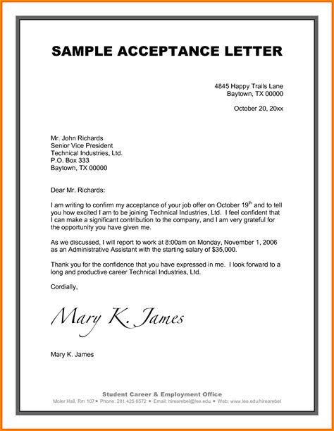 Project Acceptance Letter Exle Letter Sle Letters 2017 2018 Cars Reviews