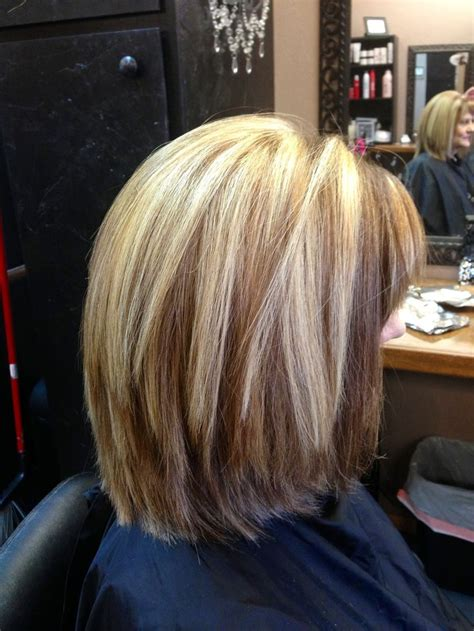 bob hairstyles with slightly layered layered long bob beauty pinterest bobs highlights