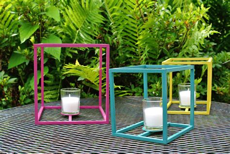 diy outdoor lanterns diy outdoor cube lanterns