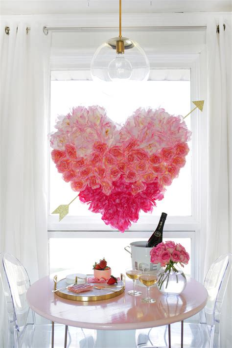 heart decorations for the home hanging flower heart diy a beautiful mess