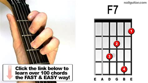 tutorial chord guitar youtube f7 guitar chord tutorial youtube