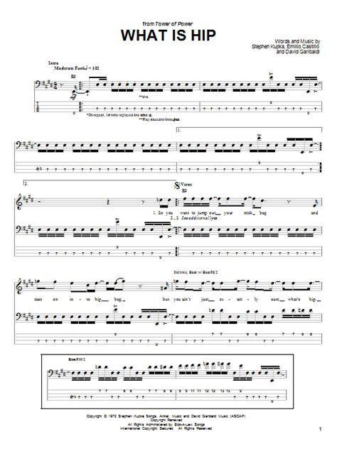 hip score opinion what is hip bass guitar tab by tower of power bass guitar