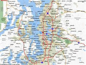 Map Seattle Area by Map Of Seattle Wa Map Holiday Travel Holidaymapq Com