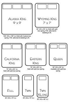 bed sizes in usa bed size charts on pinterest