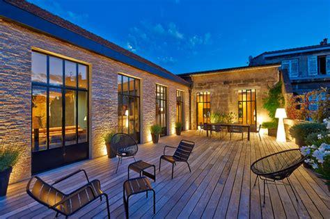 hängematte terrasse ha 21 maison en ville contemporain terrasse en bois