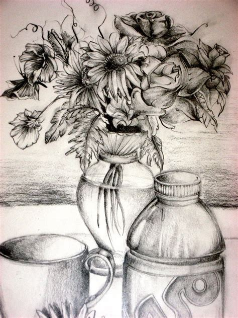 Drawing Picture Flower Vase by 16 Flower Drawings Jpg