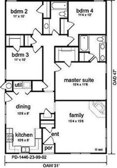1500 sq ft house plans google search simple home pinterest basement plans construction floor plan for a small house 1 150 sf with 3 bedrooms and