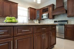 Pre Made Kitchen Cabinets by Signature Chocolate Pre Assembled Kitchen Cabinets