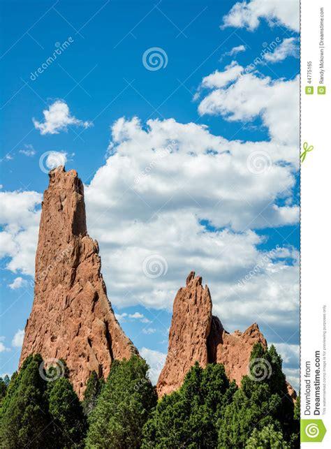 Garden Of The Gods Rock Formations Garden Of The Gods Rock Formation Colorado Stock Photo Image 44775165
