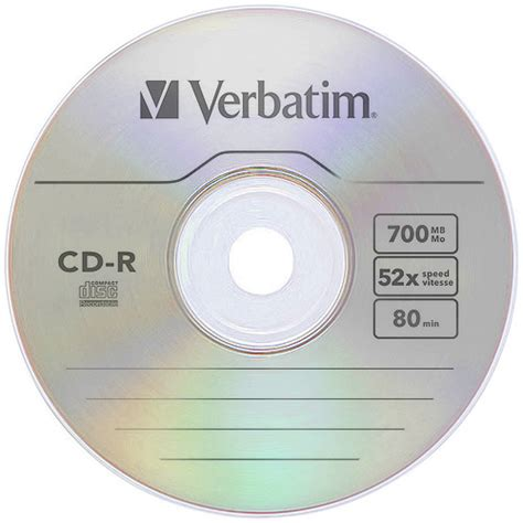 Cd R Verbatim Printable Tb 25 Verbatim Protection 52x Cd R 700mb 80 Minute